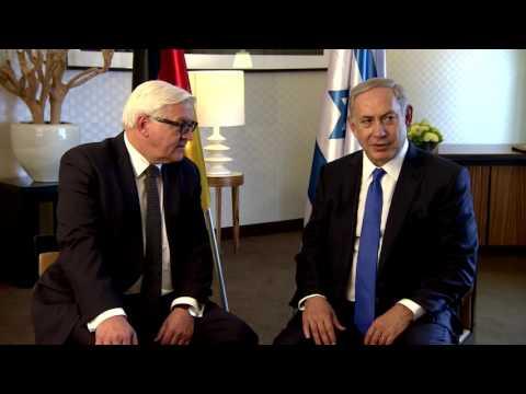 PM Netanyahu Meets German FM Frank-Walter Steinmeier