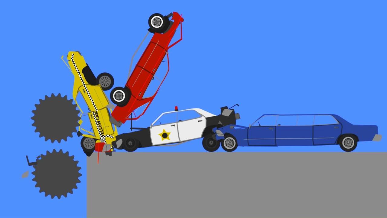 Extreme Car Crashes - Phun Algodoo Destruction Moments #6