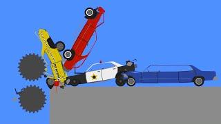Extreme Car Crashes  Phun Algodoo Destruction Moments #6