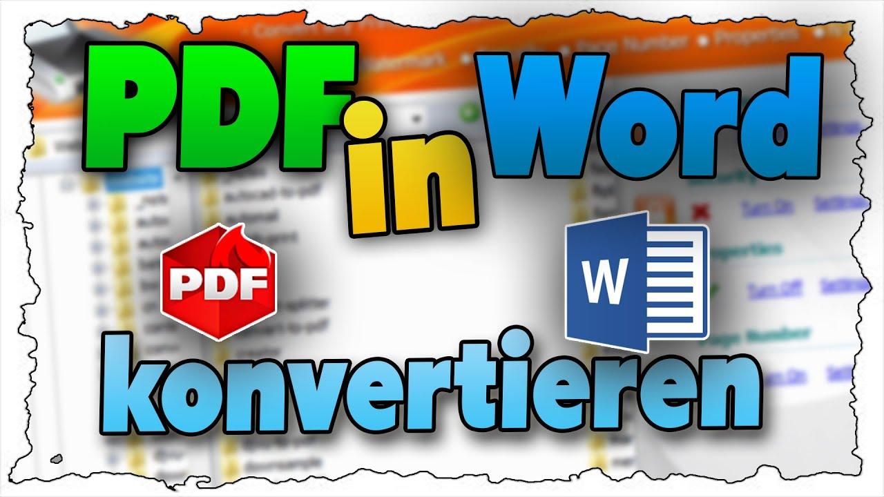 PDF-Dateien bearbeiten & PDFs erstellen (Tutorial) - YouTube