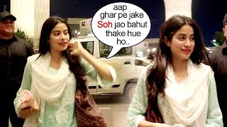 Sridevi's Daughter Jhanvi Kapoor Shows LOVE & CARE For Reporters Waiting All Night At Mumbai Airport