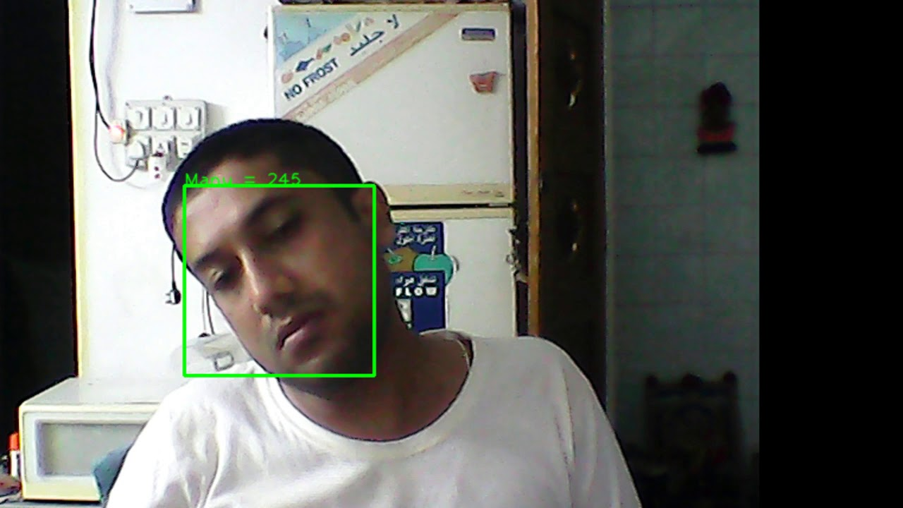 Face Recognition with pan & tilts in faces using Dlib & OpenCV 3 2 Python  code