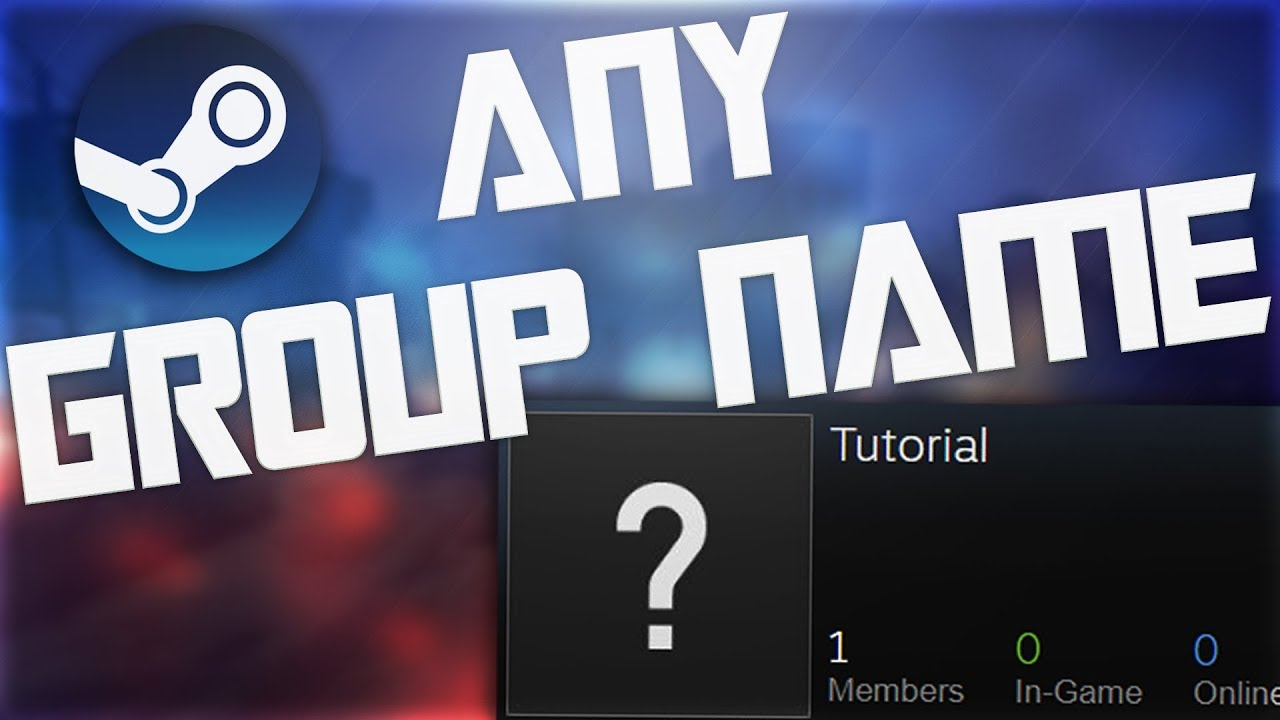 How To Create a Steam Group With ANY Name/Abbreviation