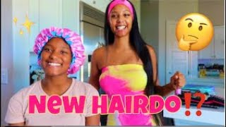 GIVING MY DAUGHTER A NEW HAIRDO!!