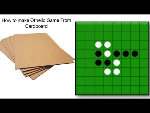 How To Make Othello with Cardboard At Home / Paper Othello Game at Home/Cardboard Games Easy at Home |