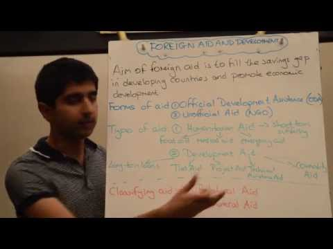 Y2/IB 20) Foreign Aid and Development
