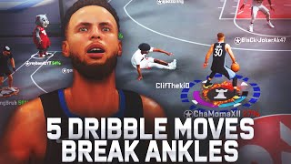 5 DRIBBLE MOVES TO BREAK ANKLES IN NBA 2K20! HOW TO BREAK ANKLES ON NBA 2K20! BEST DRIBBLE MOVES