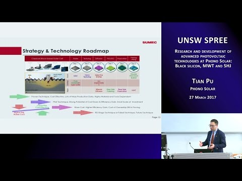 UNSW SPREE 201703-27 Tian Pu - Research and development of advanced photovoltaic technologies