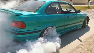 BMW E36 318is burnout