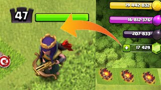 Huge Gems & Loots Spree || Gemming The ARCHER QUEEN to Level 47 || Clash Of Clans