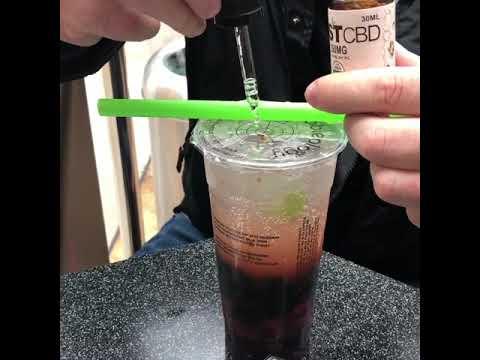 JustCBD Coconut Oil CBD Tincture and Bubble Tea - Best CBD Drink