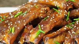 Asian Inpired Fried Pork Ribs Recipe!