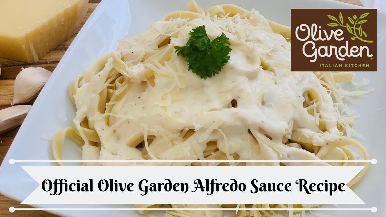 Olive Garden Alfredo Sauce Recipe Youtube