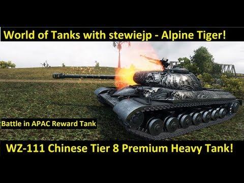 World of Tanks WZ-111 Alpine Tiger Premium Tier 8 Chinese Heavy Tank Marathon Mission Guide!