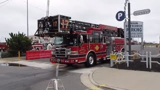 100th Video!! Apparatus Leaving Wildwood Fireman's Convention 2014