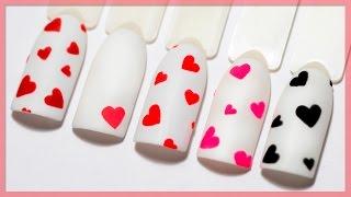 видео Маникюр с сердечками: как нарисовать сердечко на ногтях (фото)