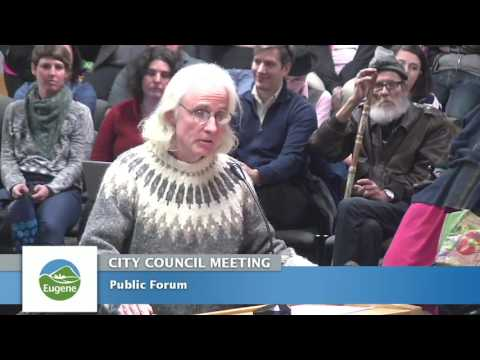 Eugene City Council Meeting: February 27, 2017