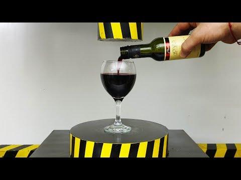 EXPERIMEN HYDRAULIC PRESS 100 TON vs GLASS