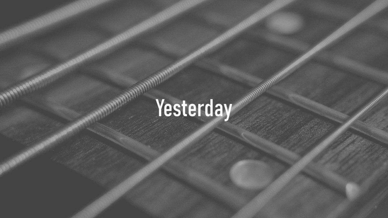 Himesh Patel Yesterday Live At Abbey Road Studios Lyric Video Chords Chordify