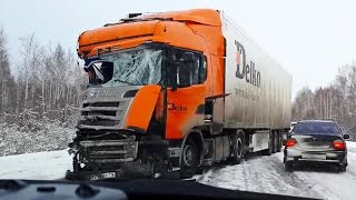 Best truck crashes, truck accident compilation Part 17