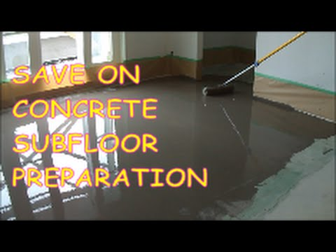 how to prepare concrete for self leveling compound