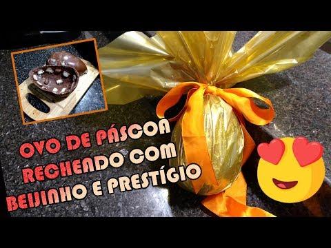 COMO FAZER OVO DE PASCOA RECHEADO BEIJINHO E PRESTIGIO | Como Fazer Fácil #Receitas 64