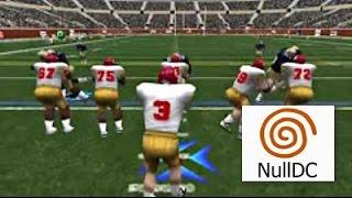 NCAA 2K2 Dreamcast Widescreen HD 60fps USC vs ND @ night nulldc (2001)