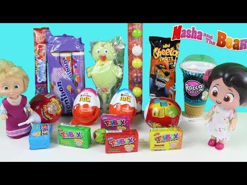 Niloyanın Marketi Maşa Niloyanın Marketinden Kinder Joy Toybox Bonibon Alıyor Buzdolabına Dolduruyor