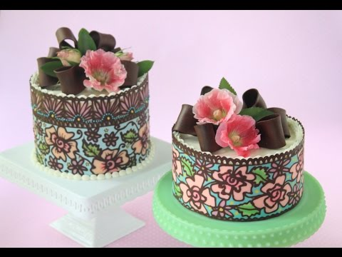 How to Make Multi-Color/Solid Chocolate Cake Wraps - YouTube