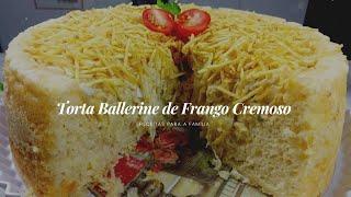 Torta de Frango Recheada e Cremosa