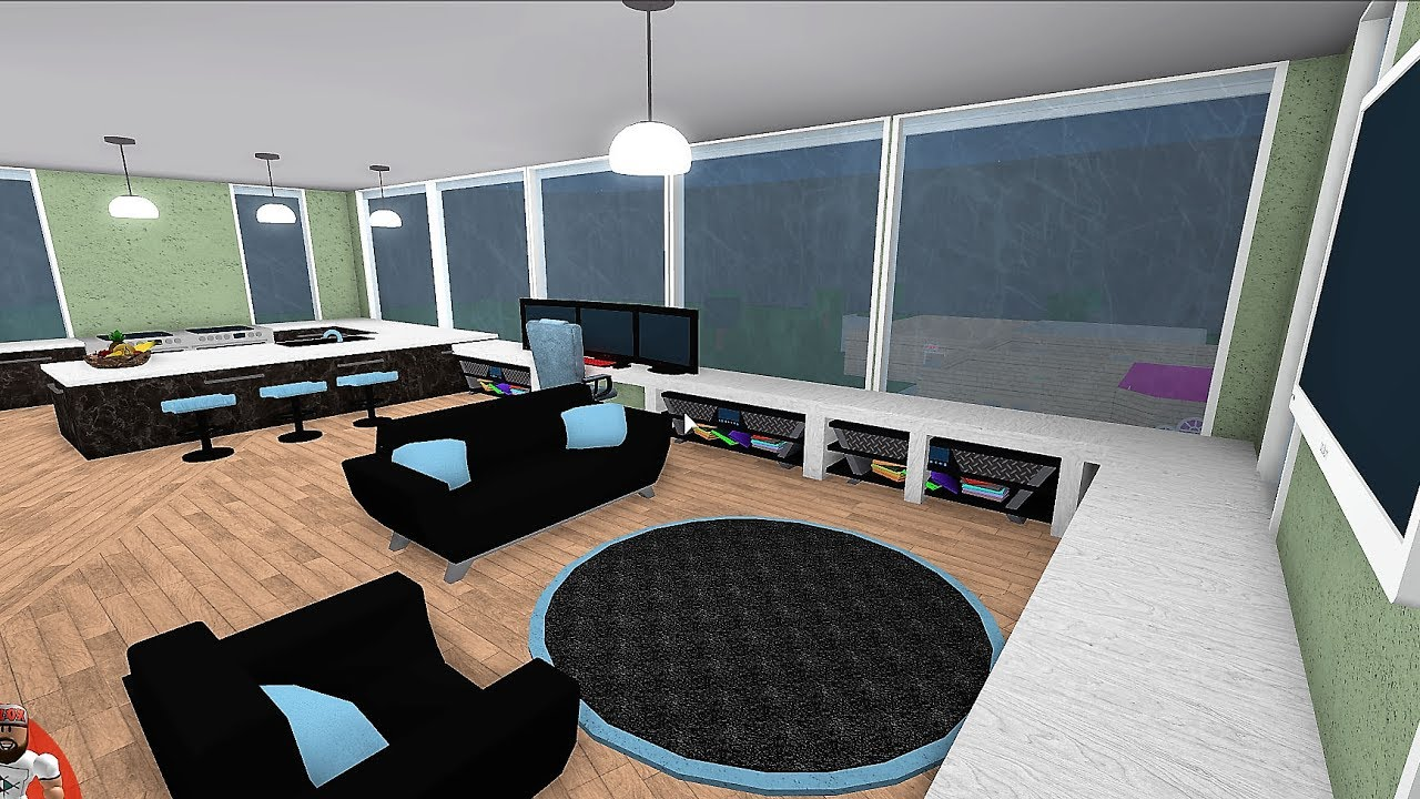 Building A Gamers Apartment Roblox Bloxburg K Youtube