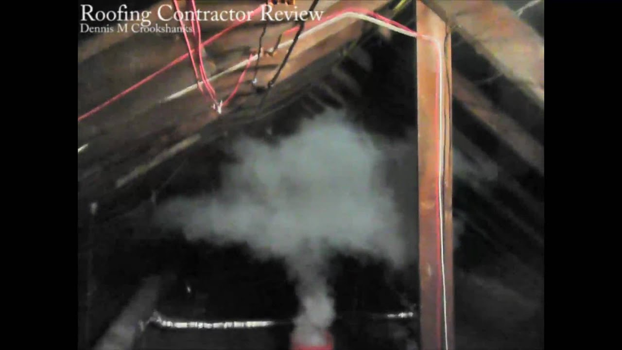 Attic Roof Ventilation Smoke Test Youtube