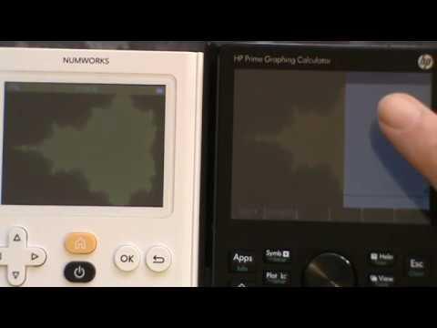 Graphic performance test #2/3 : NumWorks (Python) vs HP Prime (HPPPL CAS)