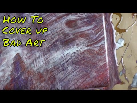 How to cover ugly art...Resin Art By