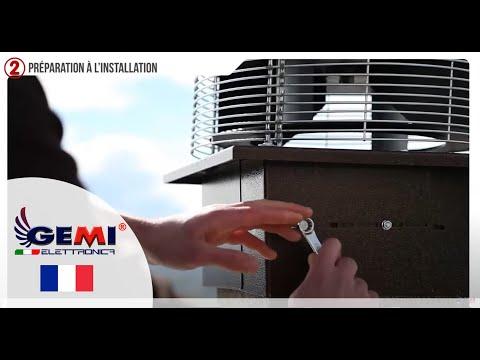Extracteur Aspirateur De Fumée pour cheminée - Vidéo d'instructions de montage GEMI