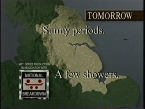 ITN News, ITV National Weather & YTV Weather - 1991