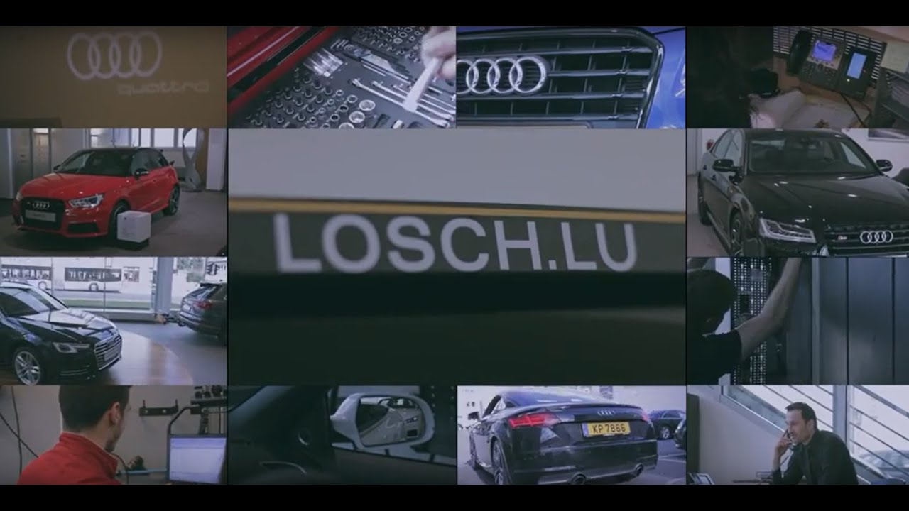 garage m losch luxembourg audi youtube. Black Bedroom Furniture Sets. Home Design Ideas