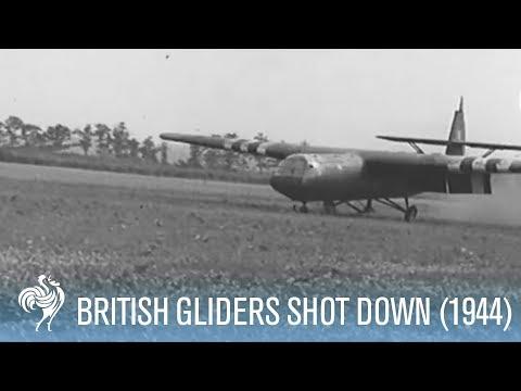 Battle of Arnhem - British Gliders Shot at by SS (1944)