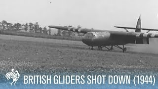 Battle of Arnhem - British Gliders Shot at by SS (1944) [HD]