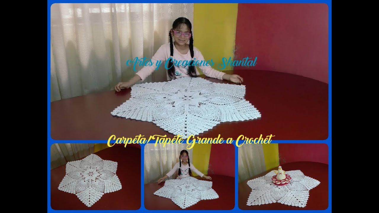 Carpeta/Tapete Tejido a Crochet.