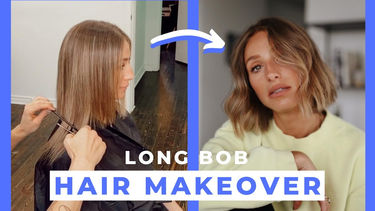 Long Bob With Blonde Balayage Hair Makeover Youtube