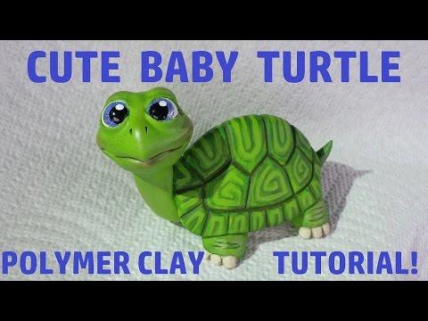 CUTE Baby Turtle Polymer Clay Tutorial!!