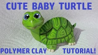 CUTE Baby Turtle Polymer Clay Tutorial!!