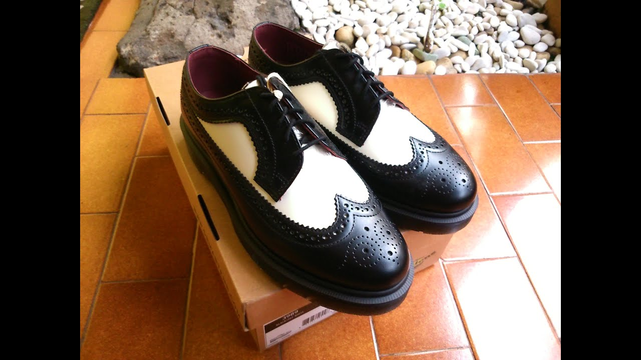 dr martens 3989 black stacked brogues