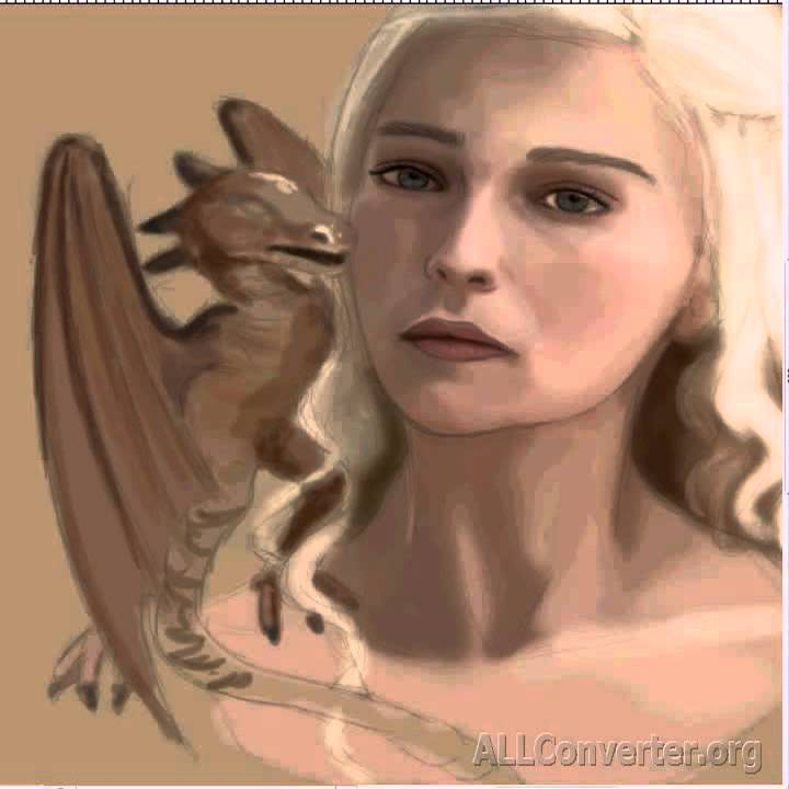 Aurore Payelle - Digital painting Daenerys Games of Thrones 69887