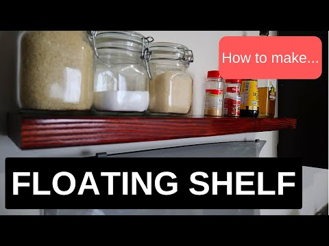 Very easy to make DIY Floating shelf - No brackets!