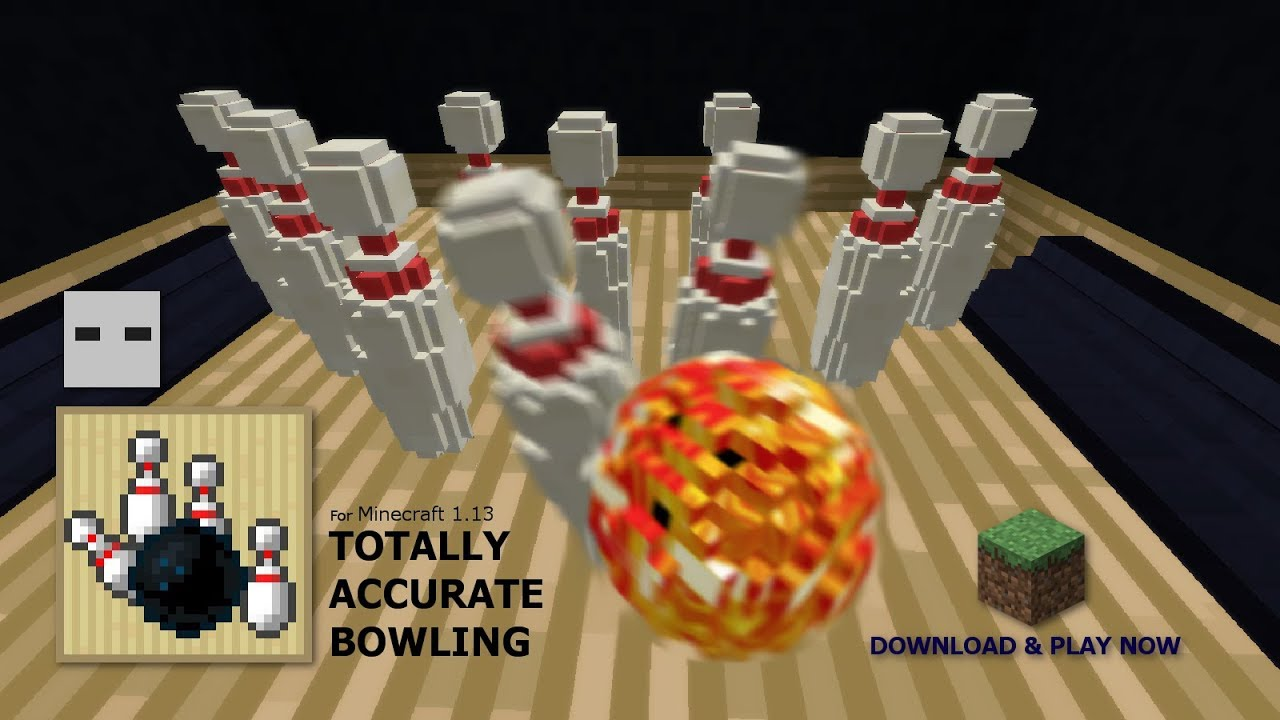 Tenpin Bowling In Minecraft FULL RELEASE DOWNLOAD INFO YouTube - Bowling map para minecraft 1 10