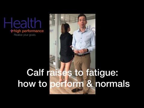 Calf raise to fatigue test: feel the burn!
