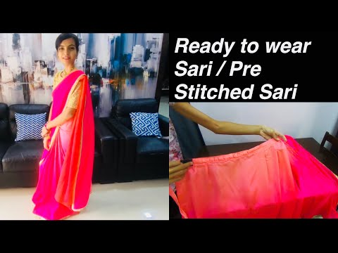 Ready made Sari / Pre Stitched Sari / Ready to Wear Sari / Rapron Sari
