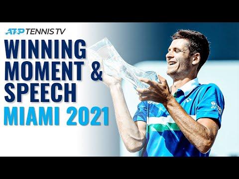 Hubert Hurkacz Wins the Miami Open 2021! | Match Point & Speech